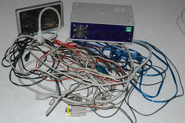 Car computer wiring mess